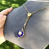 Victorian Enamel Pendant, Slider Chain 35