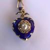 Victorian Enamel Pendant, Slider Chain 13