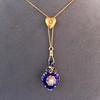 Victorian Enamel Pendant, Slider Chain 21