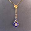 Victorian Enamel Pendant, Slider Chain 20