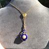 Victorian Enamel Pendant, Slider Chain 27