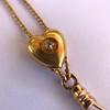 Victorian Enamel Pendant, Slider Chain 6