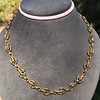 Vintage Handmade Fancy Link Gold Chain 9