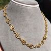 Vintage Handmade Fancy Link Gold Chain 13