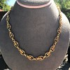 Vintage Handmade Fancy Link Gold Chain 4