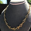 Vintage Handmade Fancy Link Gold Chain 6