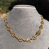Vintage Handmade Fancy Link Gold Chain 1