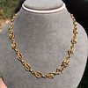 Vintage Handmade Fancy Link Gold Chain 12