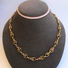 Vintage Handmade Fancy Link Gold Chain 10