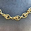 Vintage Handmade Fancy Link Gold Chain 8