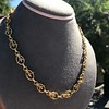 Vintage Handmade Fancy Link Gold Chain 5