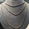 Vintage Yellow Gold Long Chain with Pearl Accents 11