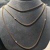Vintage Yellow Gold Long Chain with Pearl Accents 12