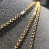 Vintage Yellow Gold Long Chain with Pearl Accents 5