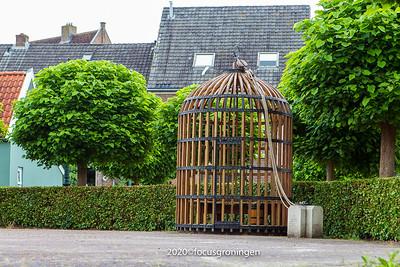 nederland 2020, hattem, dikke tinneplein, kooi