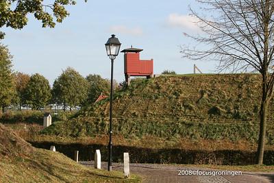 nederland 2008, bourtange, straatverlichting