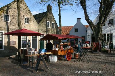 nederland 2008, bourtange, viskraam