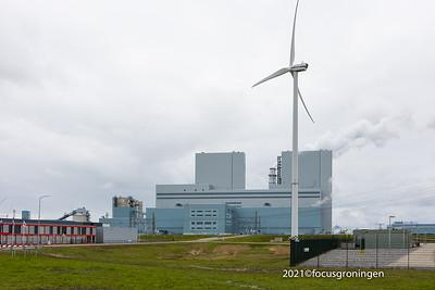 nederland 2021, eemshaven, synergieweg, rwe eemshavencentrale
