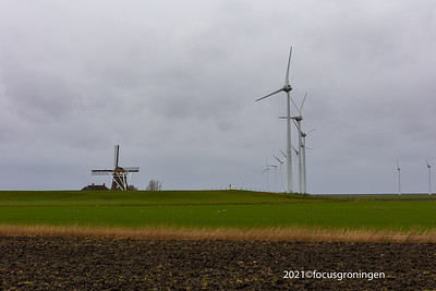 nederland 2021, eemshaven, middenweg, molen goliath