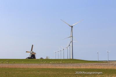 nederland 2020, eemshaven, middenweg, molen goliath