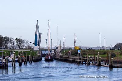 nederland 2011, lauwersoog, zeedijk