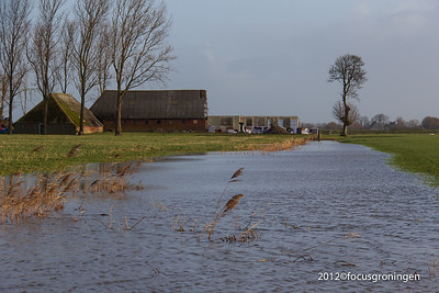 nederland 2012, oostum, hoogwater