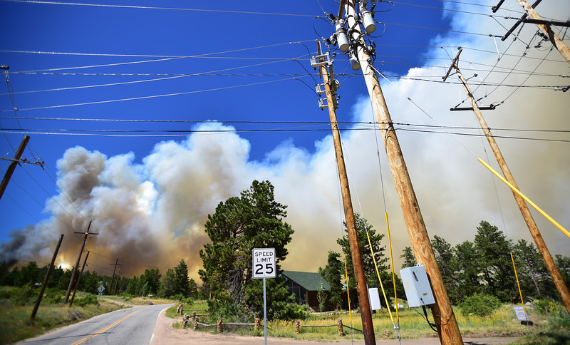 "A fire spreads near Barker Reservoir in Nederland on Saturday. (Autumn Parry / Staff photographer)<br /> More photos:  <a href=""http://www.dailycamera.com"">http://www.dailycamera.com</a><br /> (Autumn Parry/Staff Photographer)<br /> July 9, 2016"