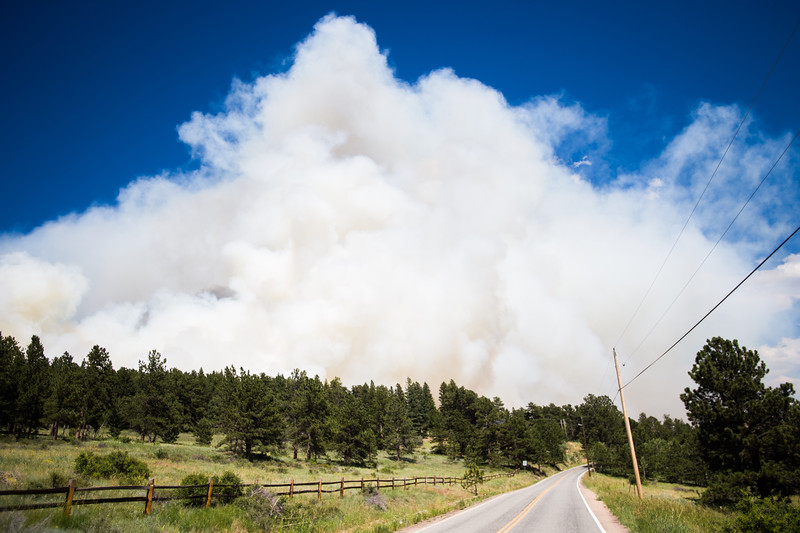"A fire spreads near Barker Reservoir in Nederland on Saturday.<br /> More photos:  <a href=""http://www.dailycamera.com"">http://www.dailycamera.com</a><br /> (Autumn Parry/Staff Photographer)<br /> July 9, 2016"
