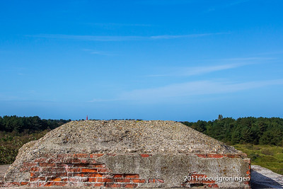 nederland 2011, schiermonnikoog, prins bernhardweg, bunkers