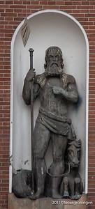 nederland 2011, groningen, akerkhof, korenbeurs, neptunus
