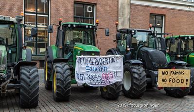 nederland 2019, groningen, akerkhof, demonstratie boeren stikstofbeleid