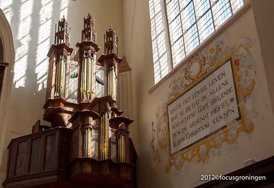 nederland 2012, groningen, akerkhof, der Aa-kerk, transeptorgel
