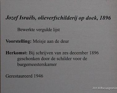 nederland 2013, groningen, grote markt, stadhuis, burgemeesterkamer, meisje aan de deur