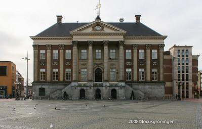 nederland 2008, groningen, grote markt, stadhuis
