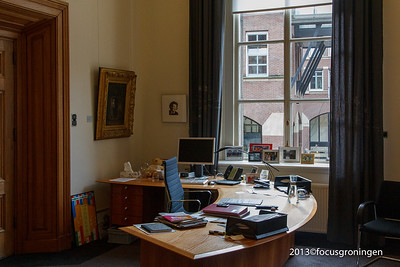 nederland 2013, groningen, grote markt, stadhuis, burgemeesterkamer