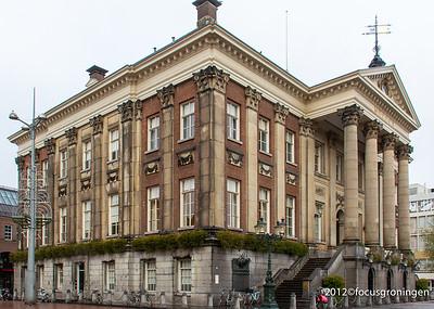 nederland 2012, groningen, grote markt, stadhuis
