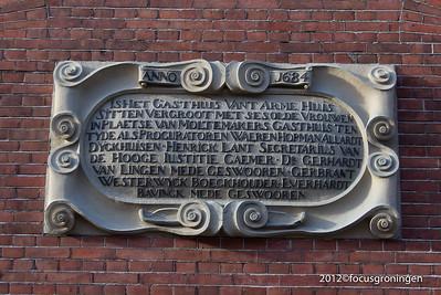 nederland 2012, groningen, akerkstraat, lamme huiningegasthuis (armhuiszittend convent)
