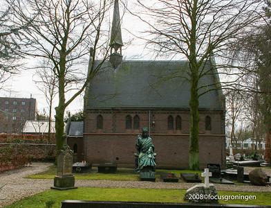 nederland 2008, groningen, hereweg, rooms- katholieke begraafplaats, hereweg, kapel
