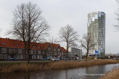 nederland 2021, groningen, bedumerweg, flatgebouw helix