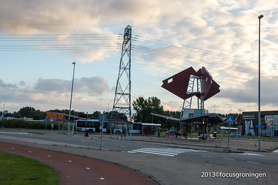 nederland 2013, groningen, kardingeplein, transferium