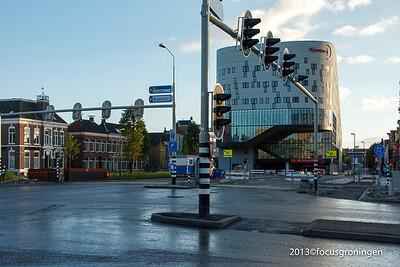 nederland 2013, groningen, kruizing damsterdiep