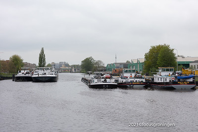 nederland 2021, groningen, florakade, gevolgen aanvaring gerrit krolbrug