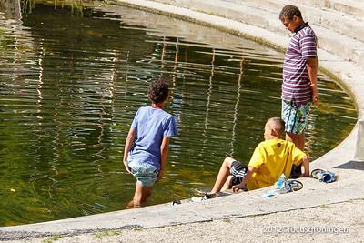 nederland 2012, groningen, kruissingel, vijver