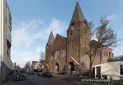nederland 2016, groningen,  akkerstraat, noorderkerk