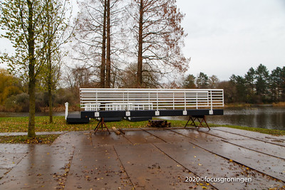 nederland 2020, groningen, park selwerd, vervanging burg 't tiltje