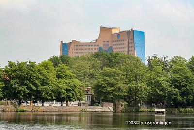 nederland 2008, groningen, stadspark, gasunie,  concourslaan