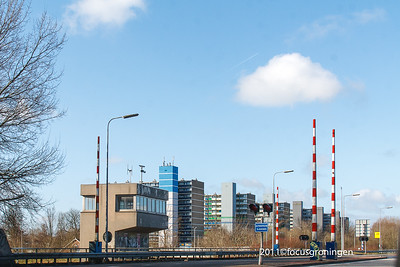 nederland 2011, groningen, aquamarijnstraat vanaf de ringweg