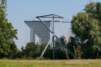 nederland 2009, groningen, zernike, sprikkenburg, stadsmarkering S05,