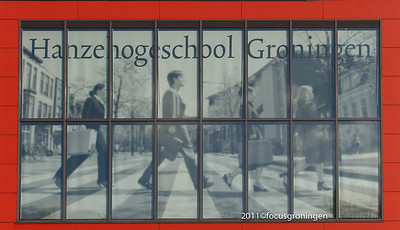 nederland 2011, groningen, blauwborgje, hanzehogeschool
