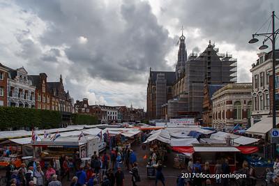 nederland 2017, haarlem, grote markt